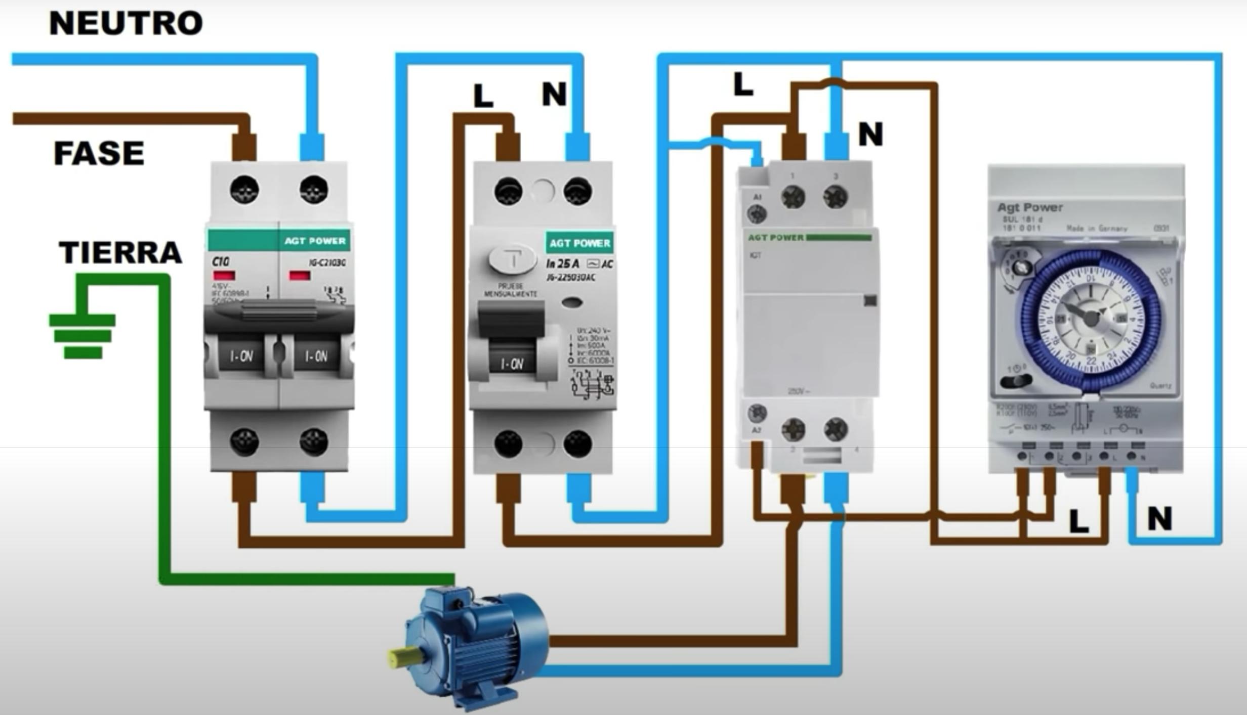 Electrotec Como Instalar Un Temporizador O Timer Electrico